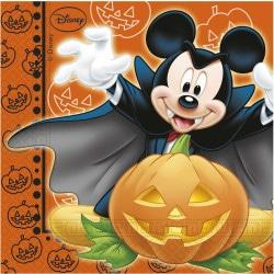 Servítky Mickey Halloween, 33x33cm, 20ks