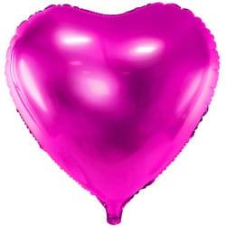 Fóliový balón tmavoružové srdce, 45cm