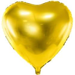 Fóliový balón zlaté srdce, 45cm