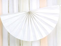 Girlanda s rozetami biela, 300cm