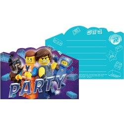 Narodeninové pozvánky Lego Movie 2, 8ks