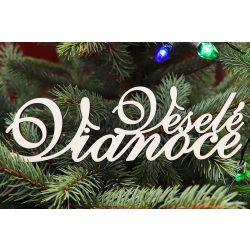 Drevený nápis Veselé Vianoce, 150x45mm