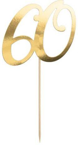 Číslo na tortu 60 zlaté