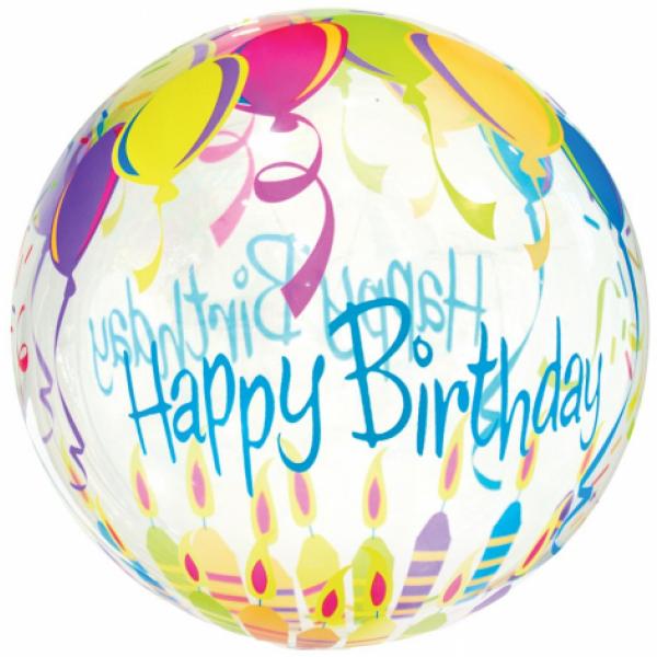 Fóliový balón Happy Birthday, 45cm