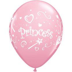 Balóny Princess ružové, 30cm, 6ks