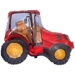 Fóliový balón červený traktor, 61cm