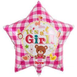 Fóliový balón hviezda s nápisom Its a Gril, 38cm