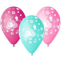 Balónový set Princezná, 30cm, 5ks