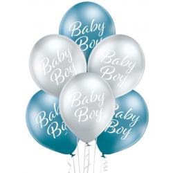 Balónový set s nápisom Baby Boy, 30cm, 6ks