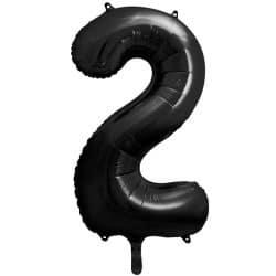 Fóliový balón číslo 2, čierny, 86cm