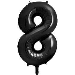 Fóliový balón číslo 8, čierny, 86cm