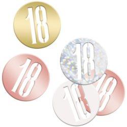 Konfety 18. narodeniny ružovo zlatý mix, 14.1g