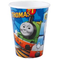Papierové poháre Lokomotíva Tomáš, 266ml, 8ks