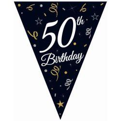 Vlajková girlanda 50. narodeniny, 270cm