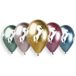 Balónový set jednorožec, lesklé, 33cm, 5ks