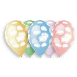 Balónový set obláčiky, pastelové, 33cm, 5ks