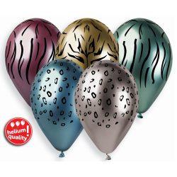 Balónový set zvieracie vzory, 33cm, 5ks