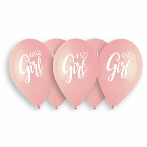 Balóny Its a Girl, 33cm, 5ks