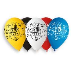 Balóny pirátska loď, 33cm, 5ks